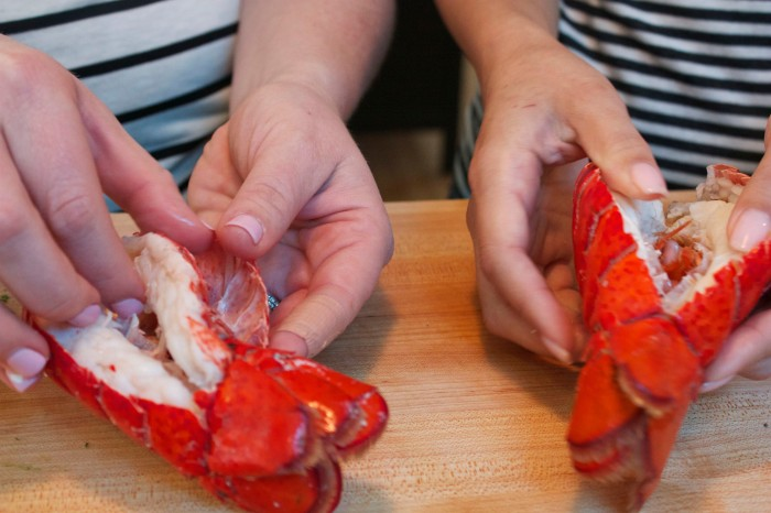 Peeling Lobster