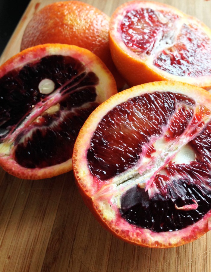 A Word About Blood Oranges: Whenever I slice into blood oranges, I always feel like I'm looking into stained glass! They are slightly more tart than naval oranges, but incredibly delicious!